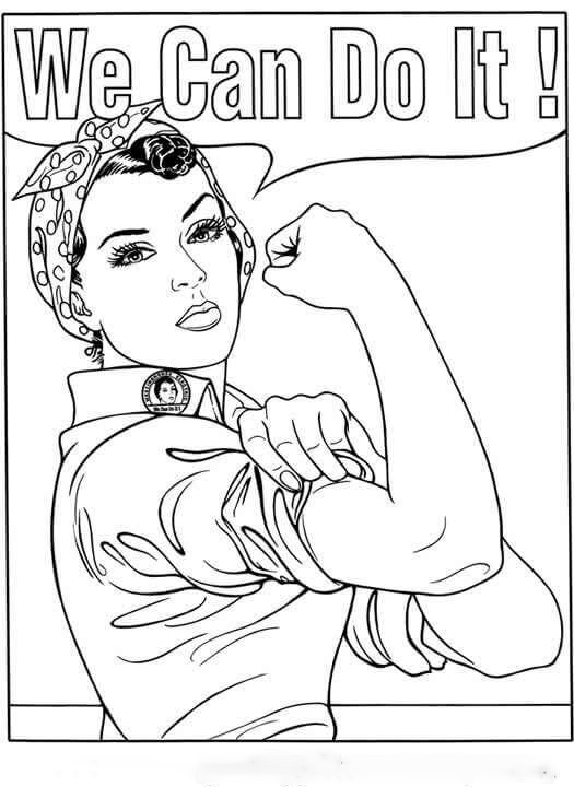 International Womens Day in World War II Coloring Page