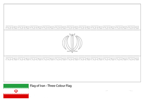 Flag of Iran-World Cup 2018
