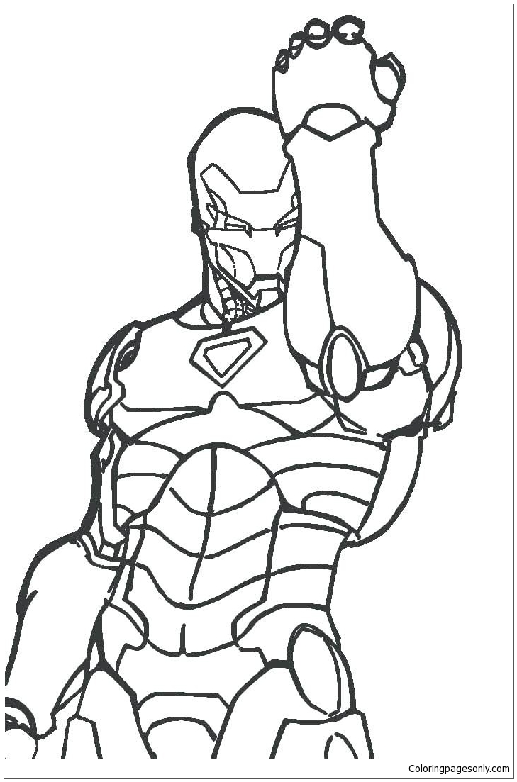 Iron Man 1 Coloring Pages