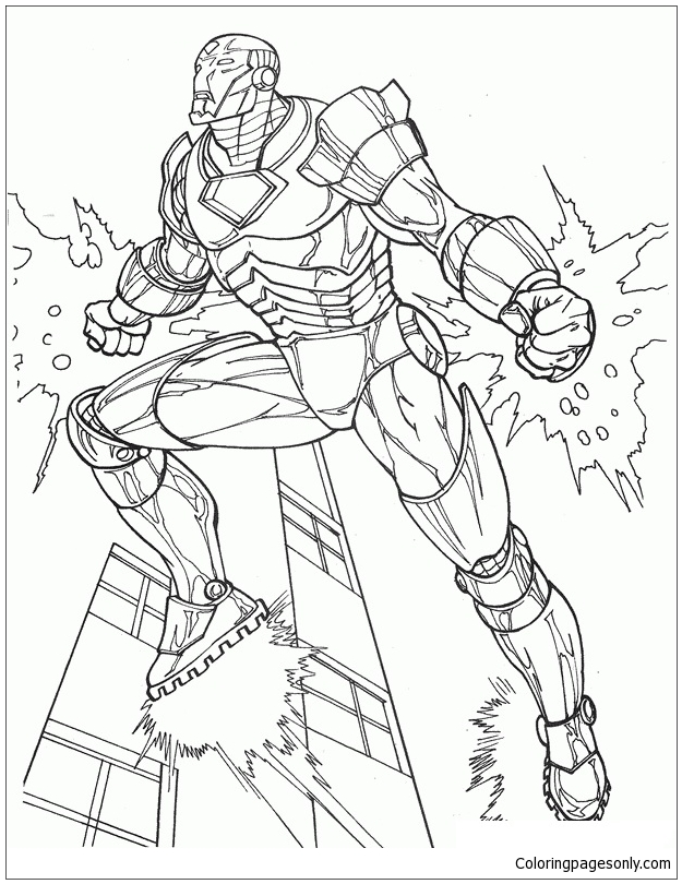 iron man fictional superhero coloring page - Coloring Pages Superheroes Ironman