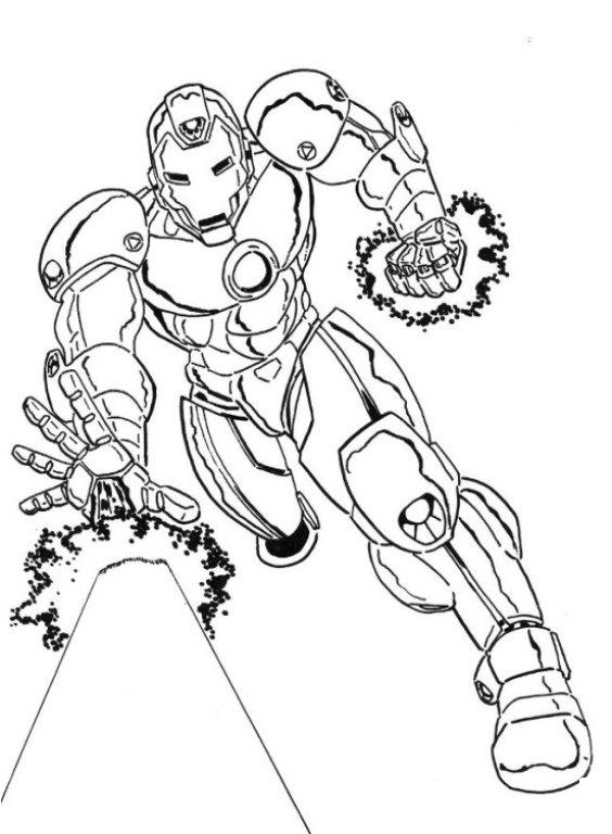 Iron Man Fight Scene Coloring Page