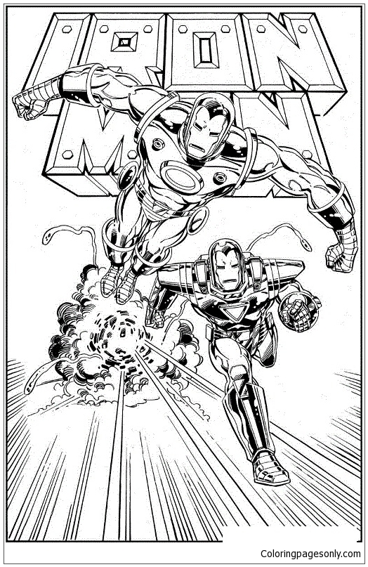 Iron Man Speed Coloring Page