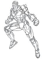 Iron Man Coloring Page