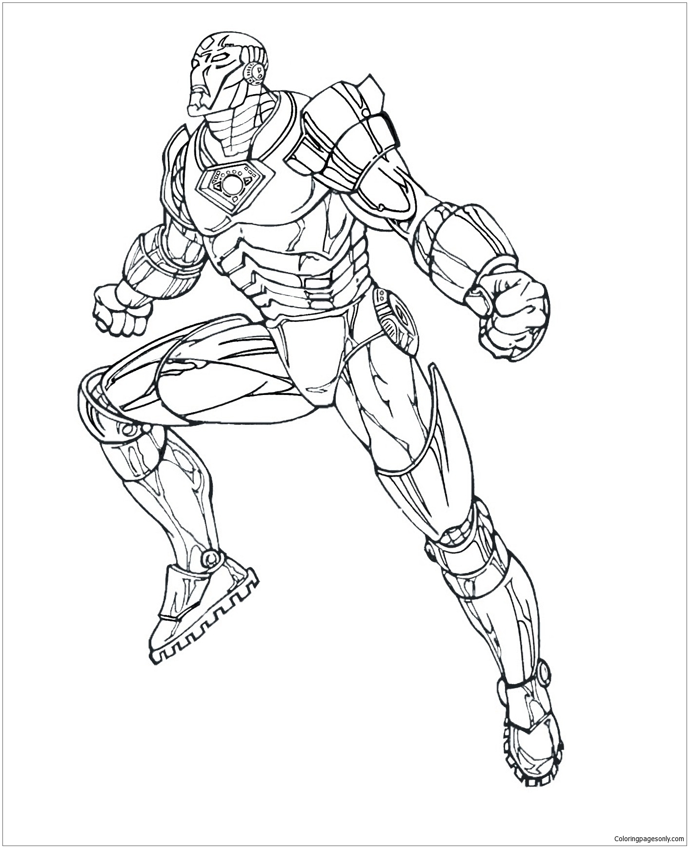 Iron Man Coloring Page - Free Coloring Pages Online