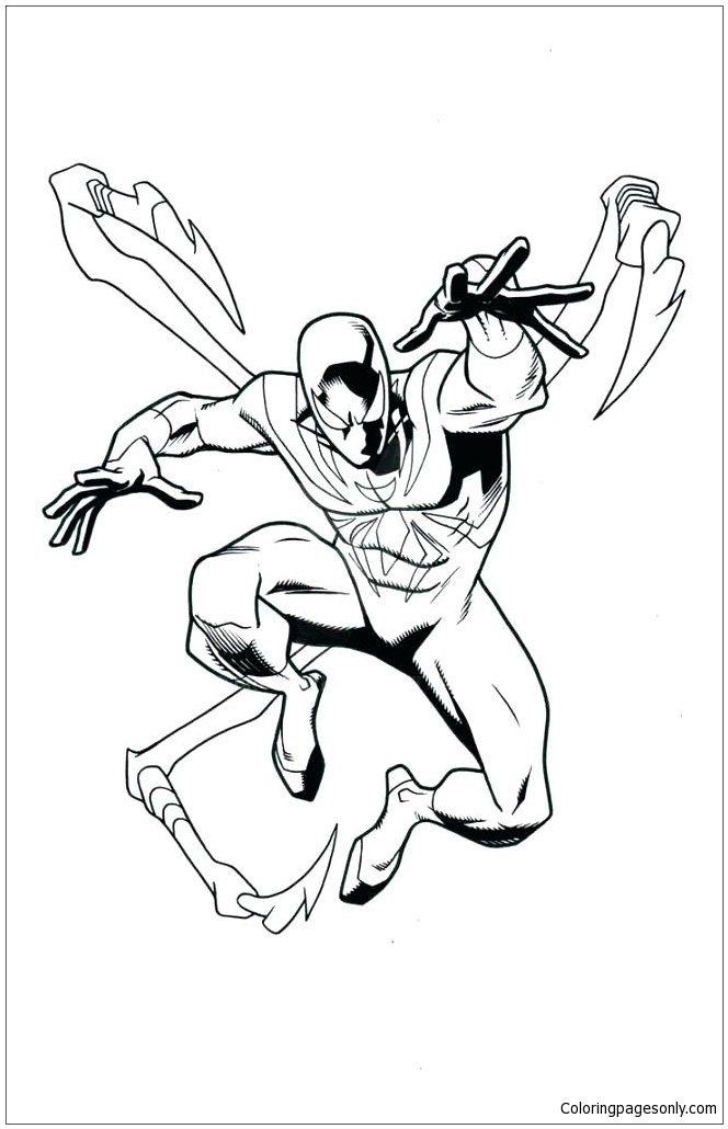 Iron Spiderman Coloring Page - Free Coloring Pages Online