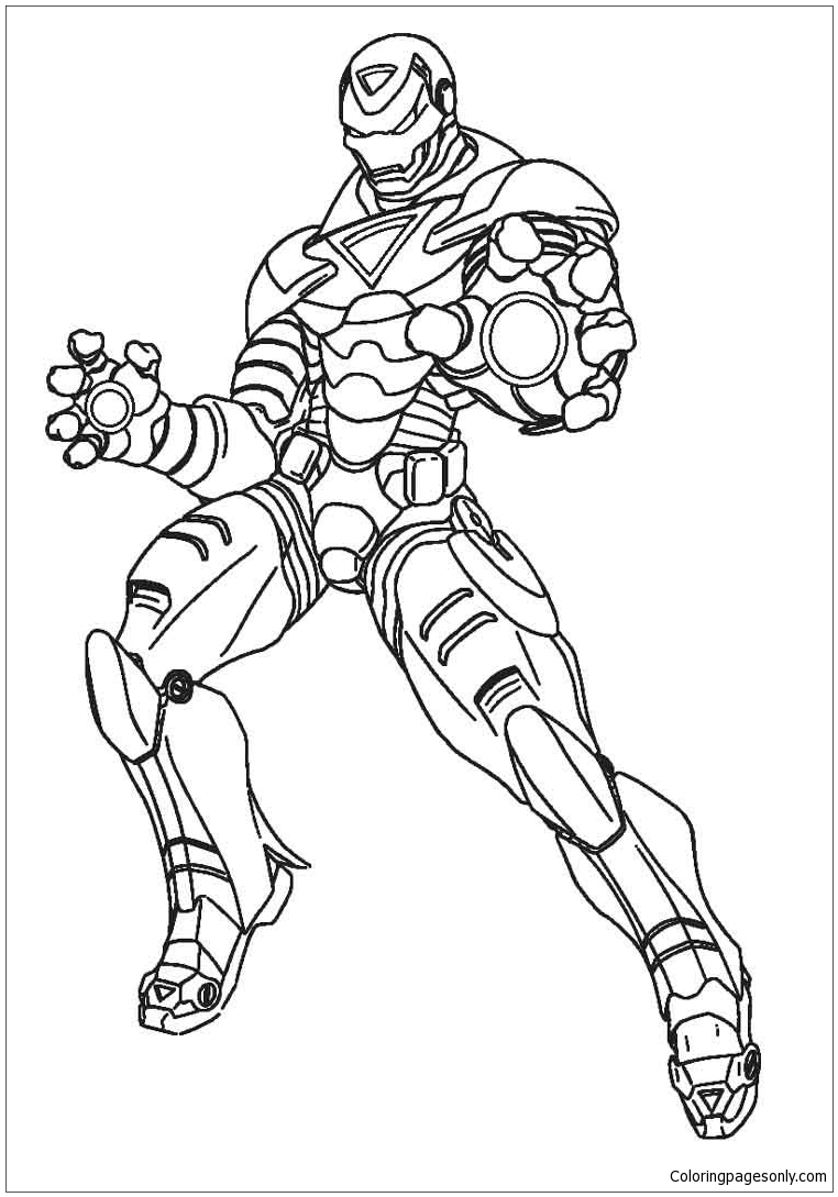 ironman deadpool coloring page free