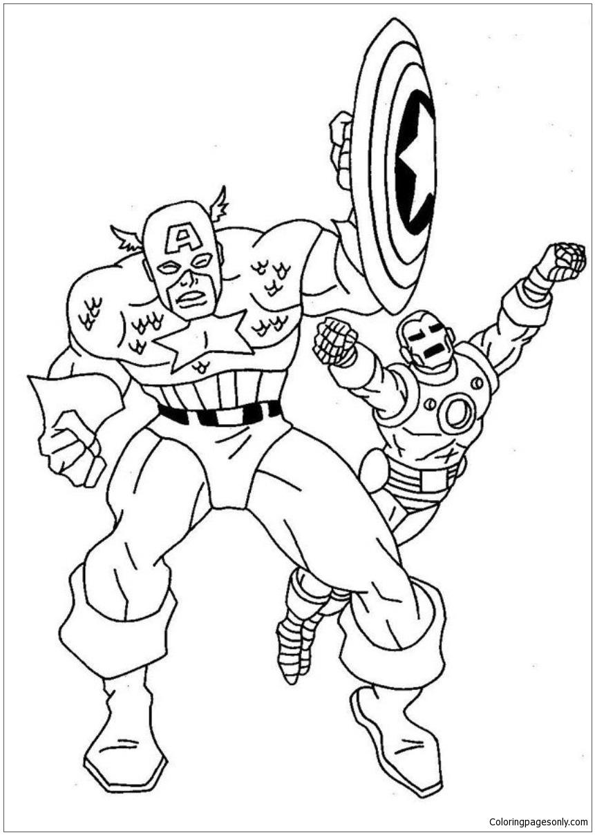 Super Hero Captain America Coloring Pages For Kids | Superhelden ... | 1209x861