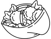 Israeli Falafel Coloring Page