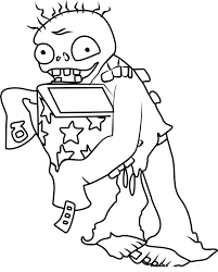 Jack-in-the-Box Zombie Coloring Page