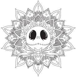 Jack Skellington Mandala Coloring Page