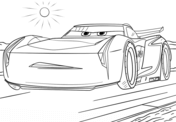 Jackson Storm from Cars 3 from Disney Cars Coloring Page