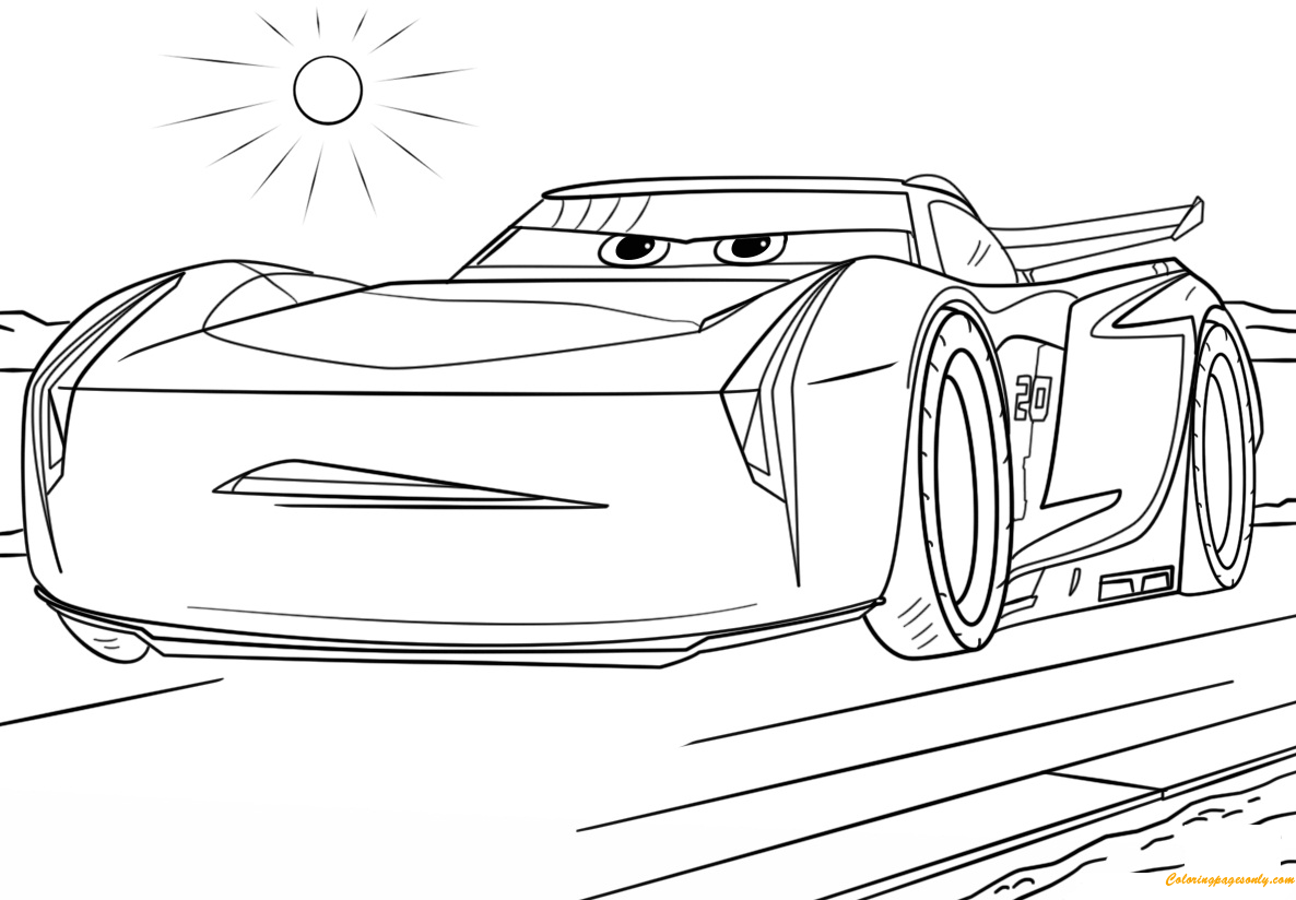 Jackson Storm From Cars 3 Disney Coloring Page