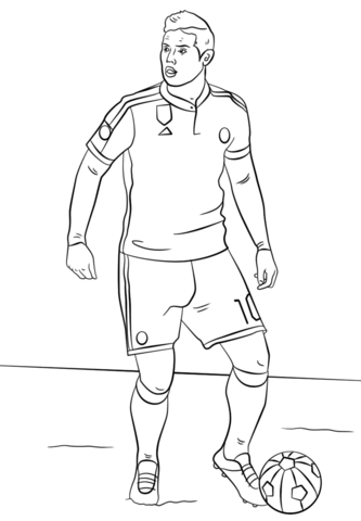 James Rodriguez-image 1 Coloring Page
