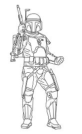 Jango Fett from Star Wars Coloring Page