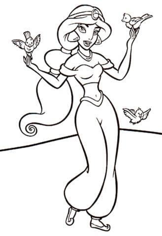 Jasmine With Birds from Aladdin