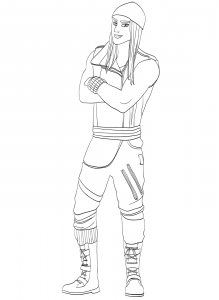 Jay from Descendants Coloring Page