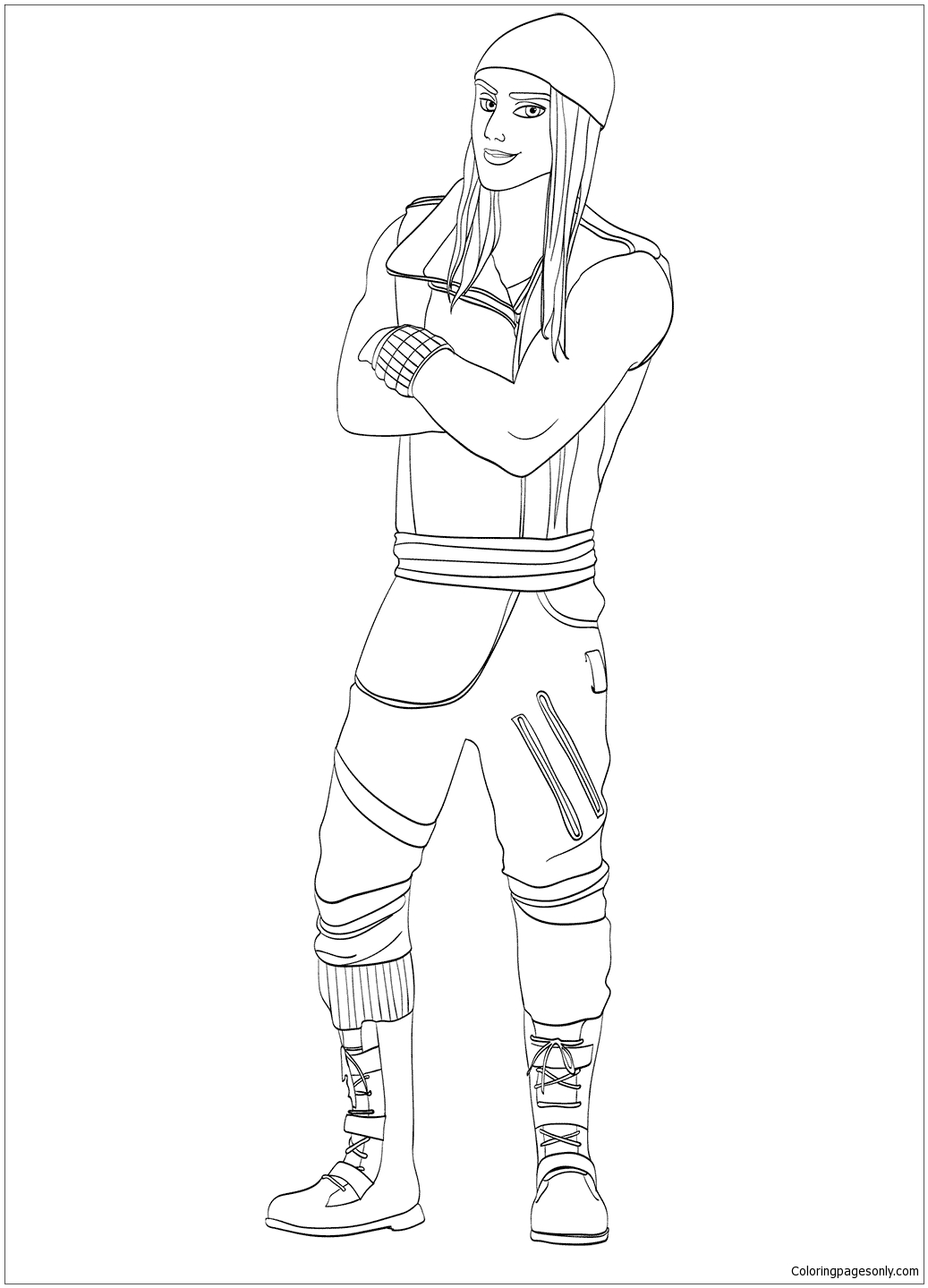 Jay From Descendants Coloring Page Free Coloring Pages
