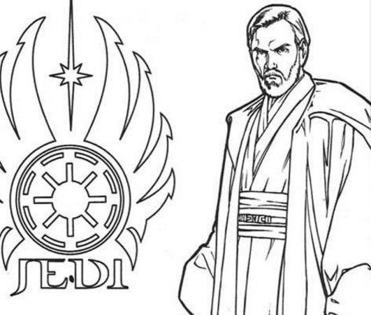 Jedi Obi-Wan Kenobi Coloring Page