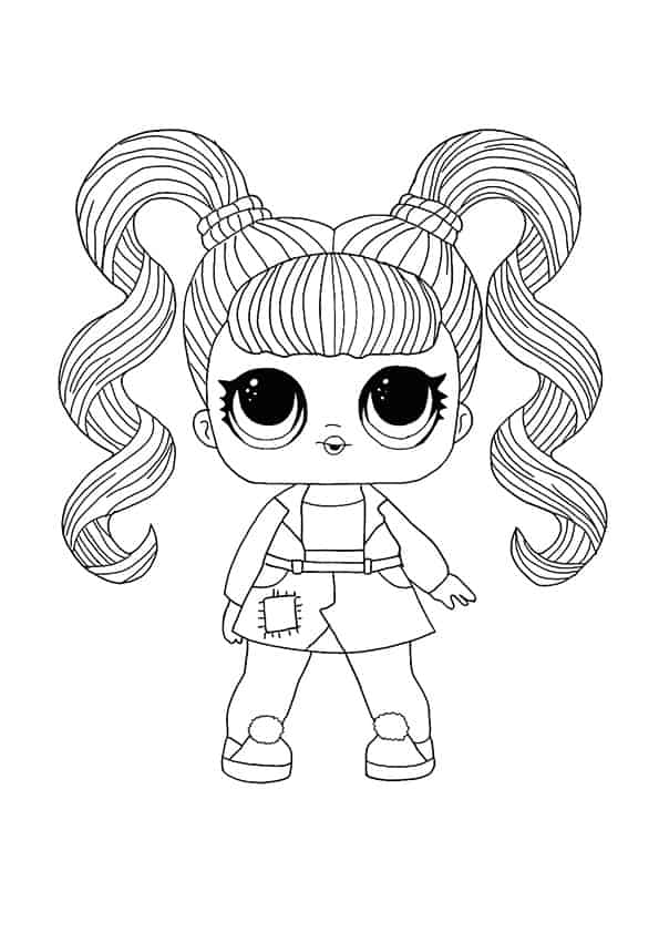 Lol Suprise Doll Jelly Jam Coloring Page