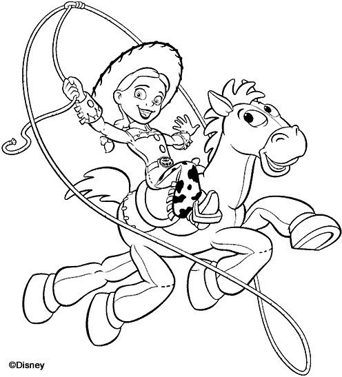 Jessie and Bullseye Coloring Pages