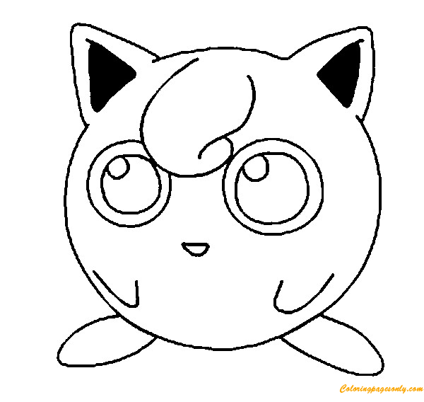 Jigglypuff Pokemon Coloring Page Free Coloring Pages Online