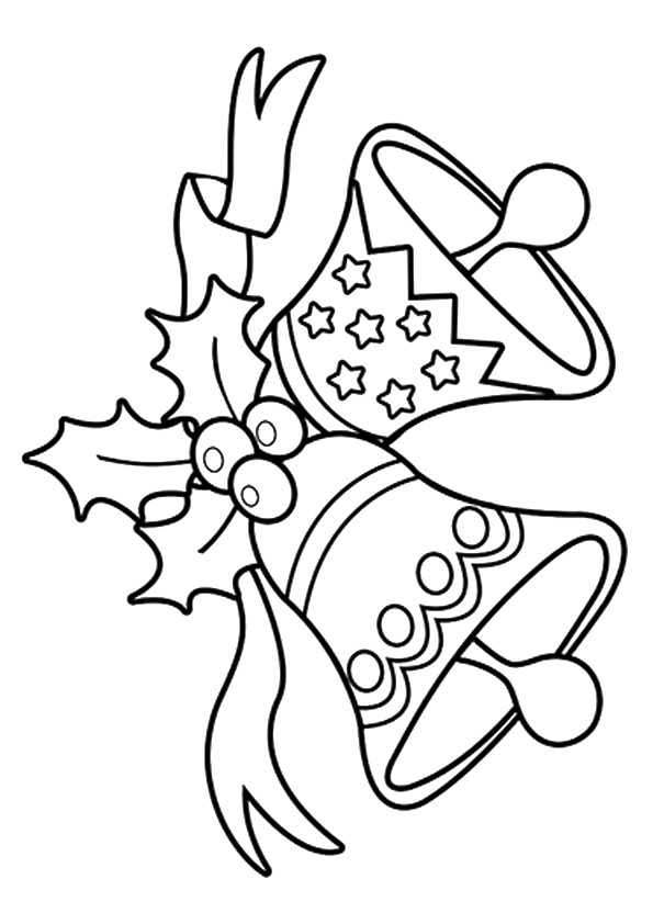 Jingle Bells Christmas Coloring Page
