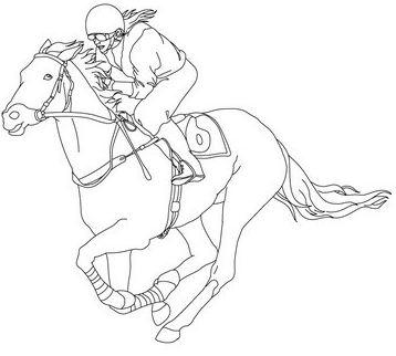 Jockey On A Galloping Horse