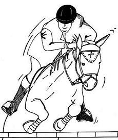 Jockey Coloring Page