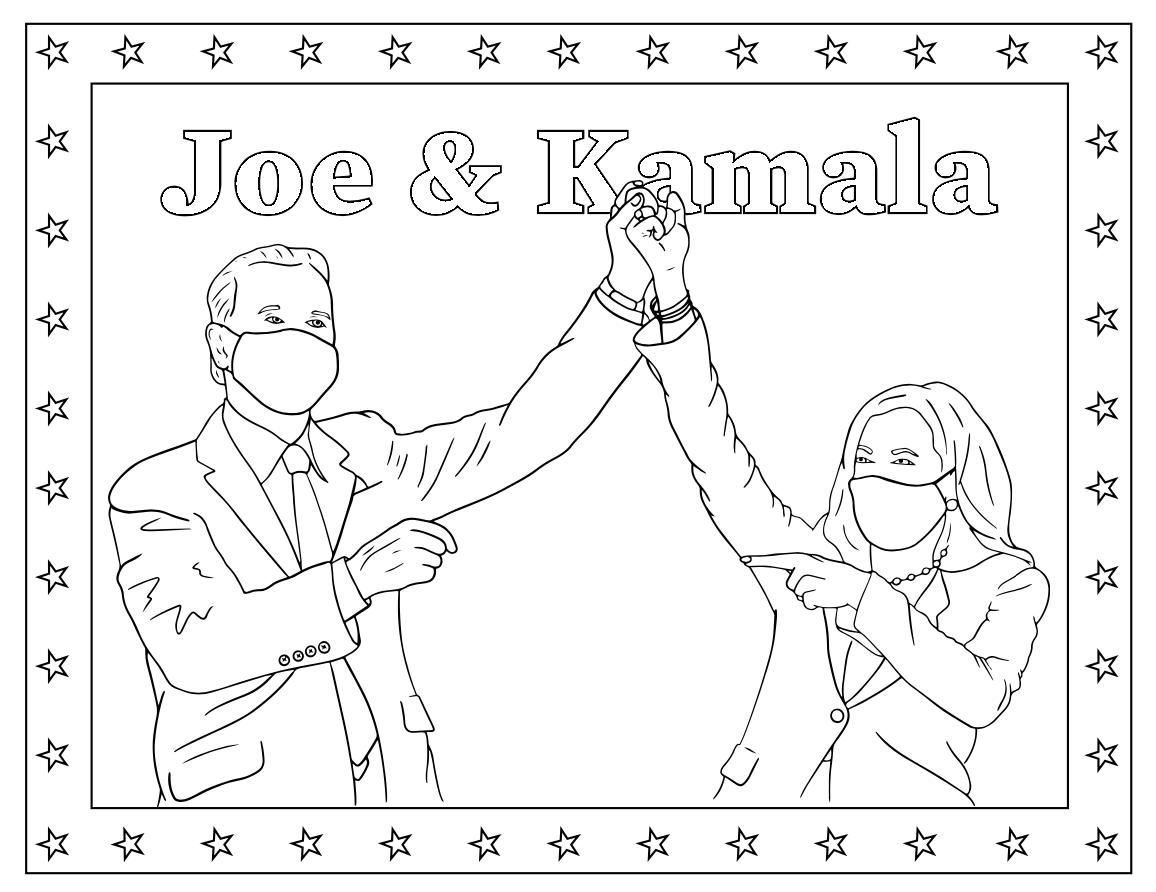 Joe & Kamala Coloring Page