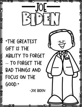 Joe Biden Advice Coloring Page