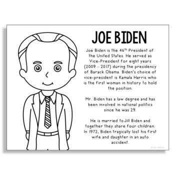 Joe Biden Background Coloring Page