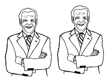 Joe Biden Become President Coloring Page