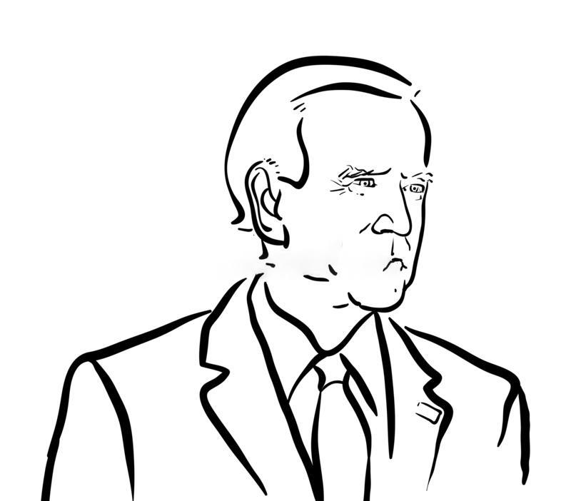 Joe Biden floyed drawing Coloring Page