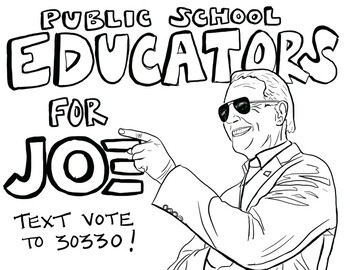Joe Biden Is Voted President Coloring Page