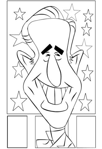 Joe Biden Laugh Coloring Page