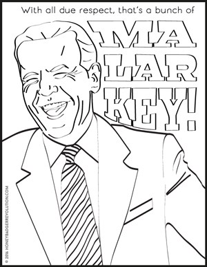 Joe Biden Makes Smile Coloring Page