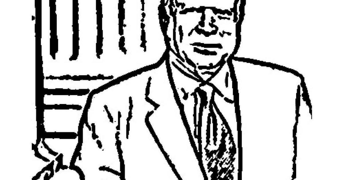Joe Biden Portait Coloring Page