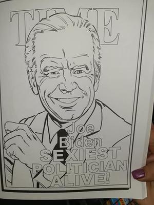 Joe Biden Review Coloring Page