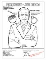 Joe Biden Serious Image Coloring Page