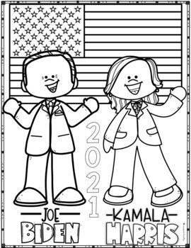 Joe Biden vs Kamala Harris original Coloring Page