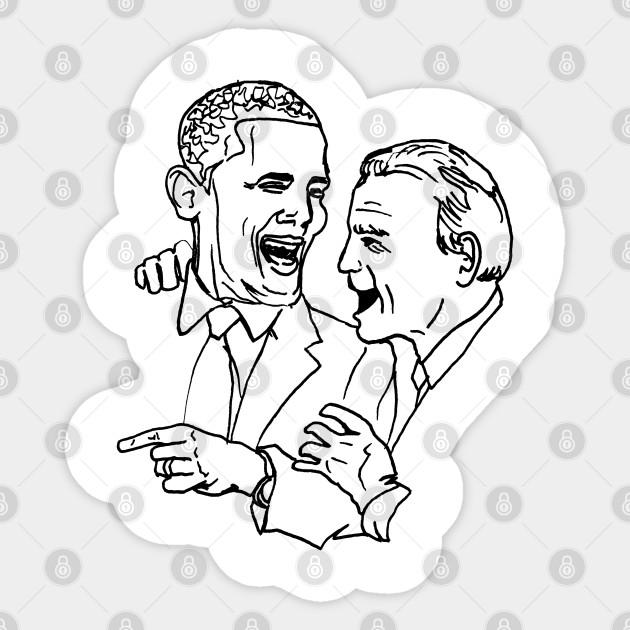 Joe Biden Vs Obama Coloring Page