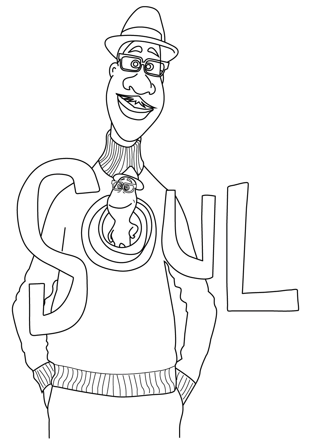 Joe from Soul Coloring Page