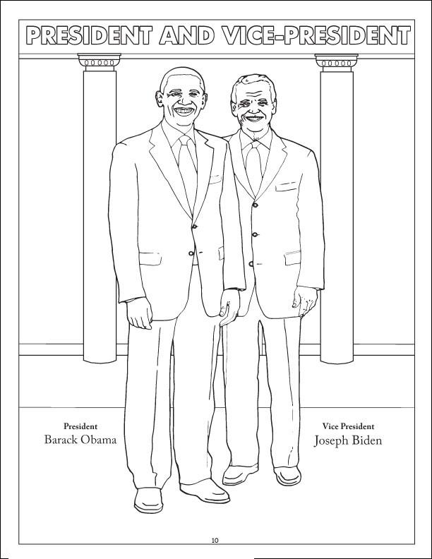 Joseph Robinette Biden And Obama Coloring Page