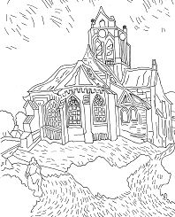 Joyous Famous Painting Coloring Page