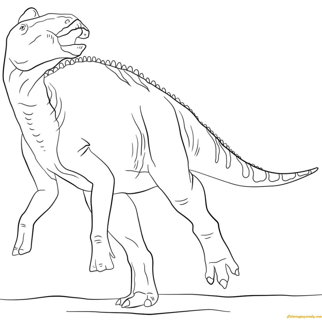 Jurassic Edmontosaurus Coloring Page