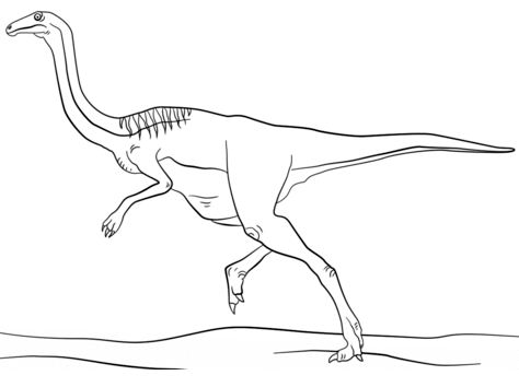 Jurassic Gallimimus Coloring Page