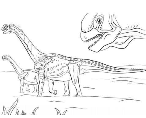 Jurassic Park Camarasaurus Coloring Page