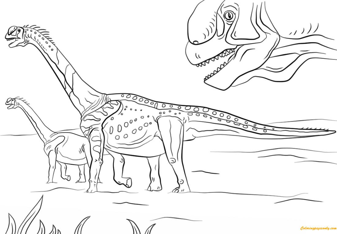 jurassic park camarasaurus coloring page - Jurassic Park Coloring Book