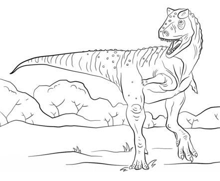 Jurassic Park Carnotaurus Coloring Page