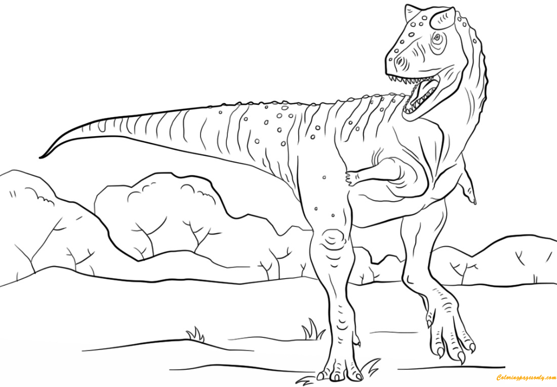 jurassic park carnotaurus coloring page free coloring pages online. Black Bedroom Furniture Sets. Home Design Ideas